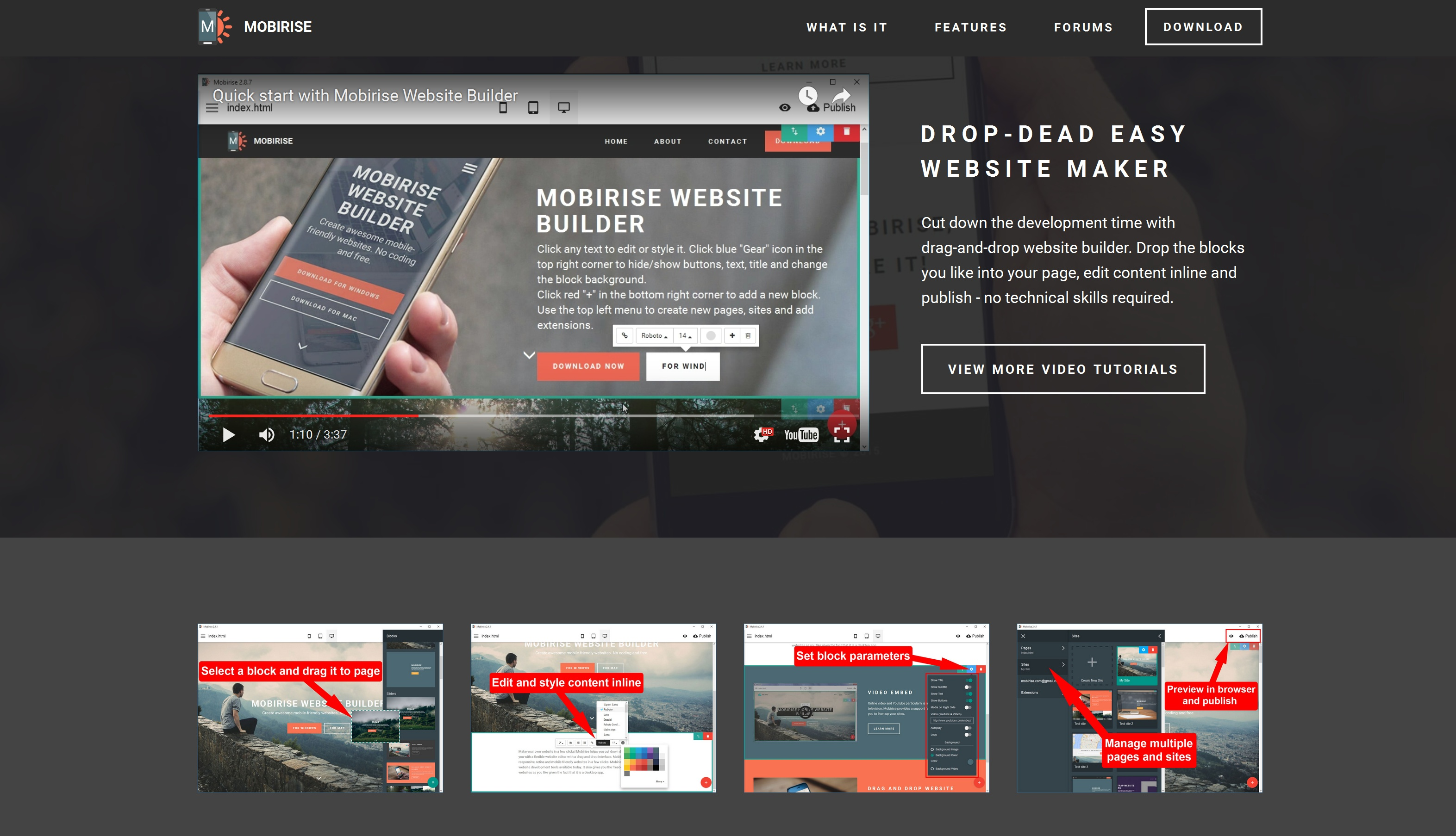 Free mobile website builder review for Website layout creator