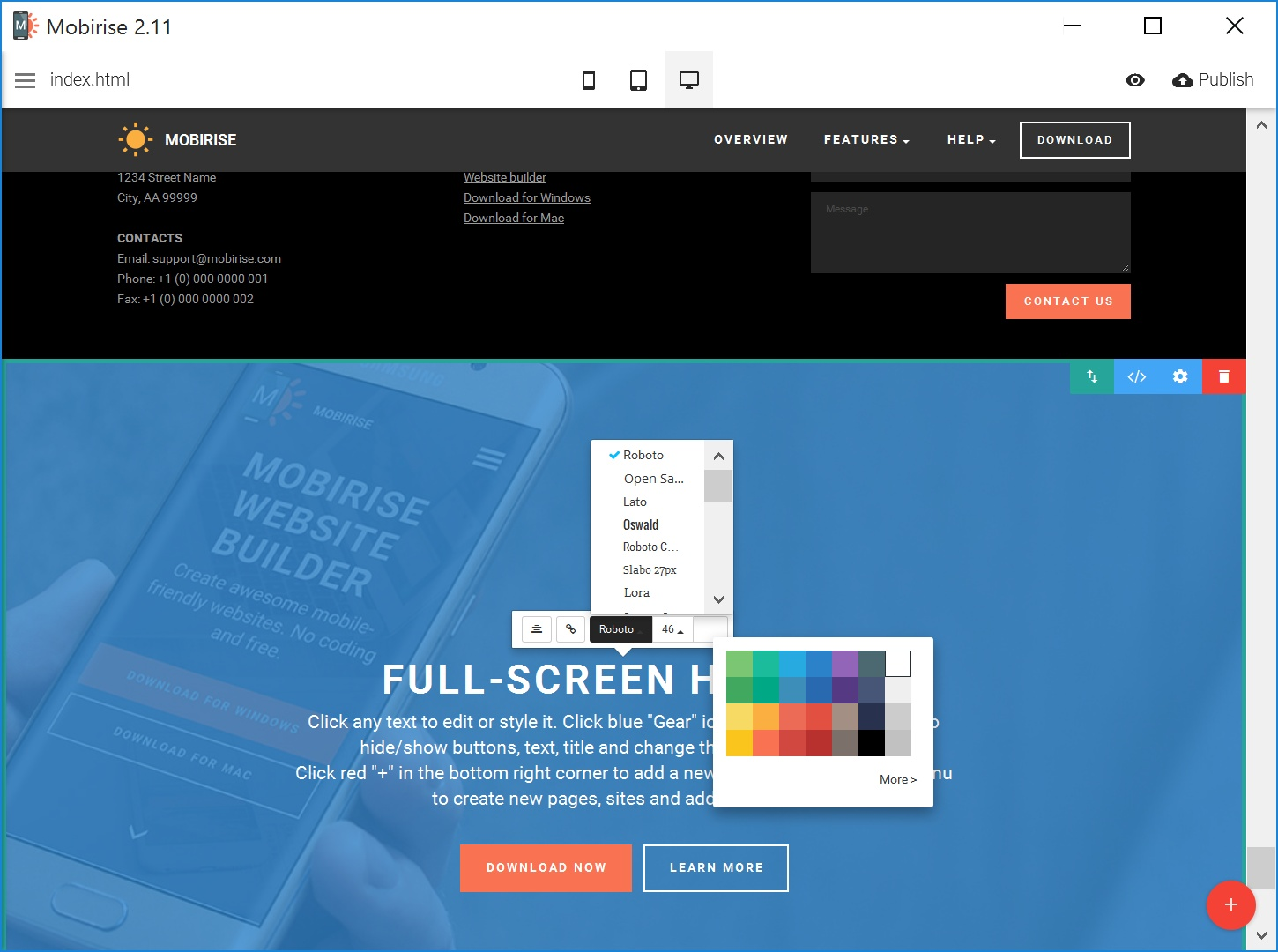 website design software free download full version