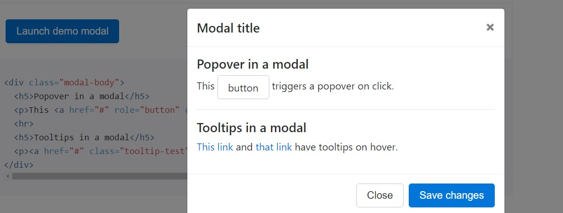 Tooltips  and also popovers