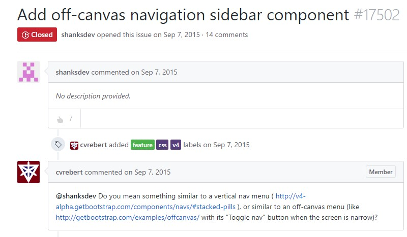 Incorporate off-canvas navigation sidebar  ingredient