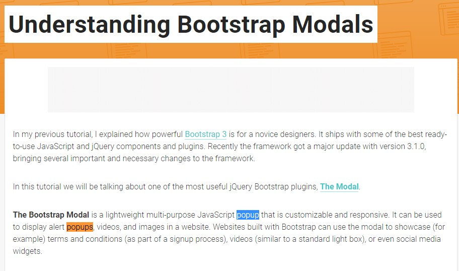 Yet another  beneficial  information  regarding to Bootstrap Modal Popup