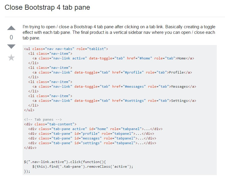 Ways to  shut Bootstrap 4 tab pane