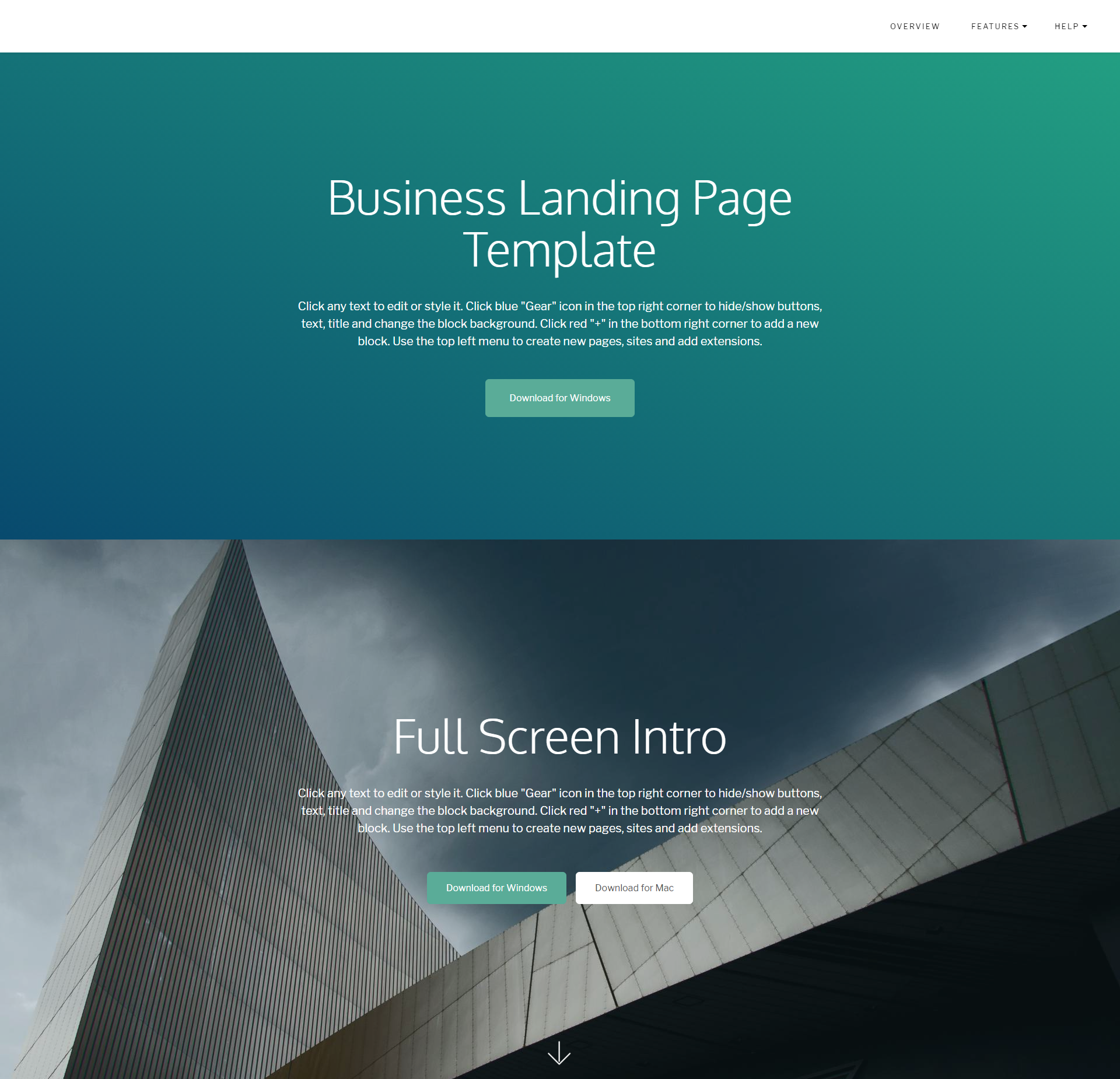 Responsive Bootstrap Business Landing Page Themes