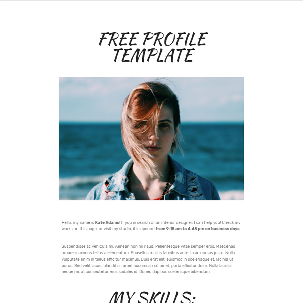CSS3 Bootstrap Profile Themes