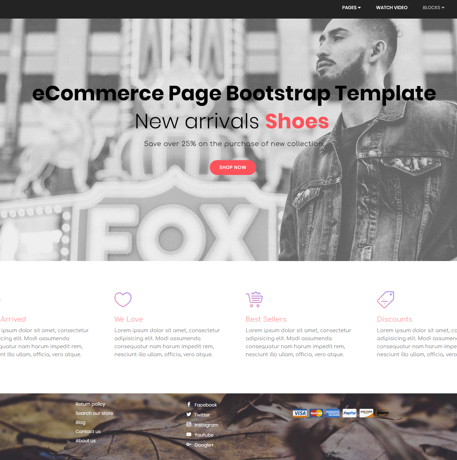 Free Bootstrap eCommerce Templates