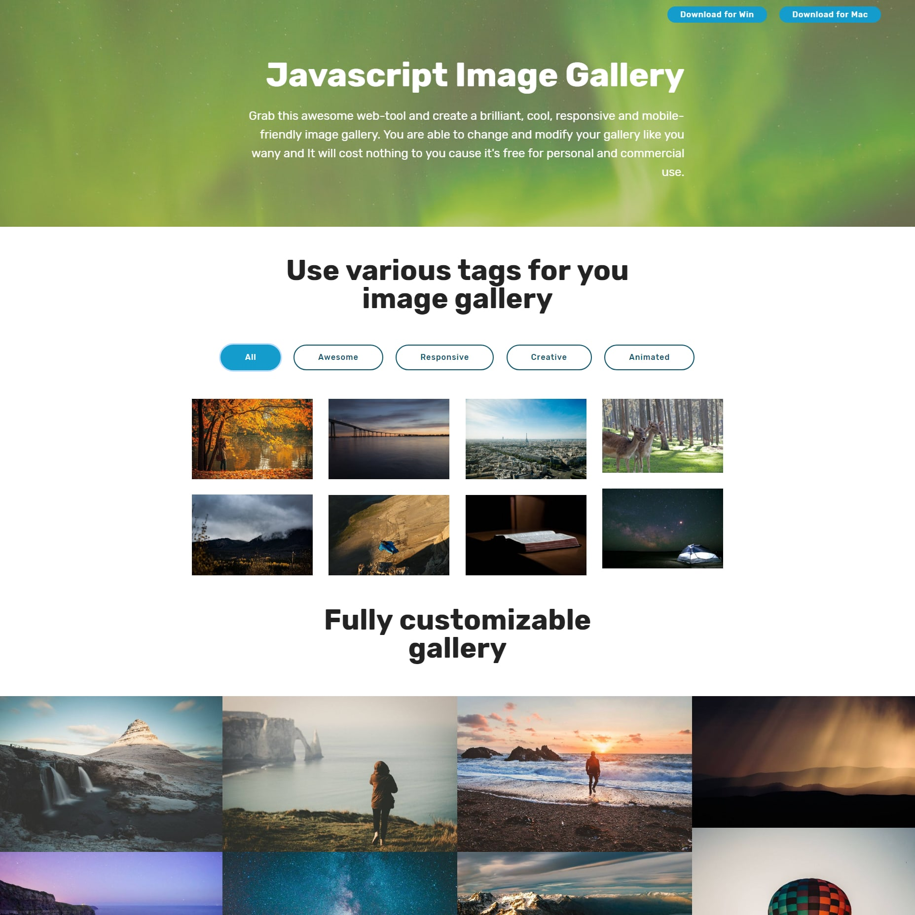JavaScript Bootstrap Image Gallery