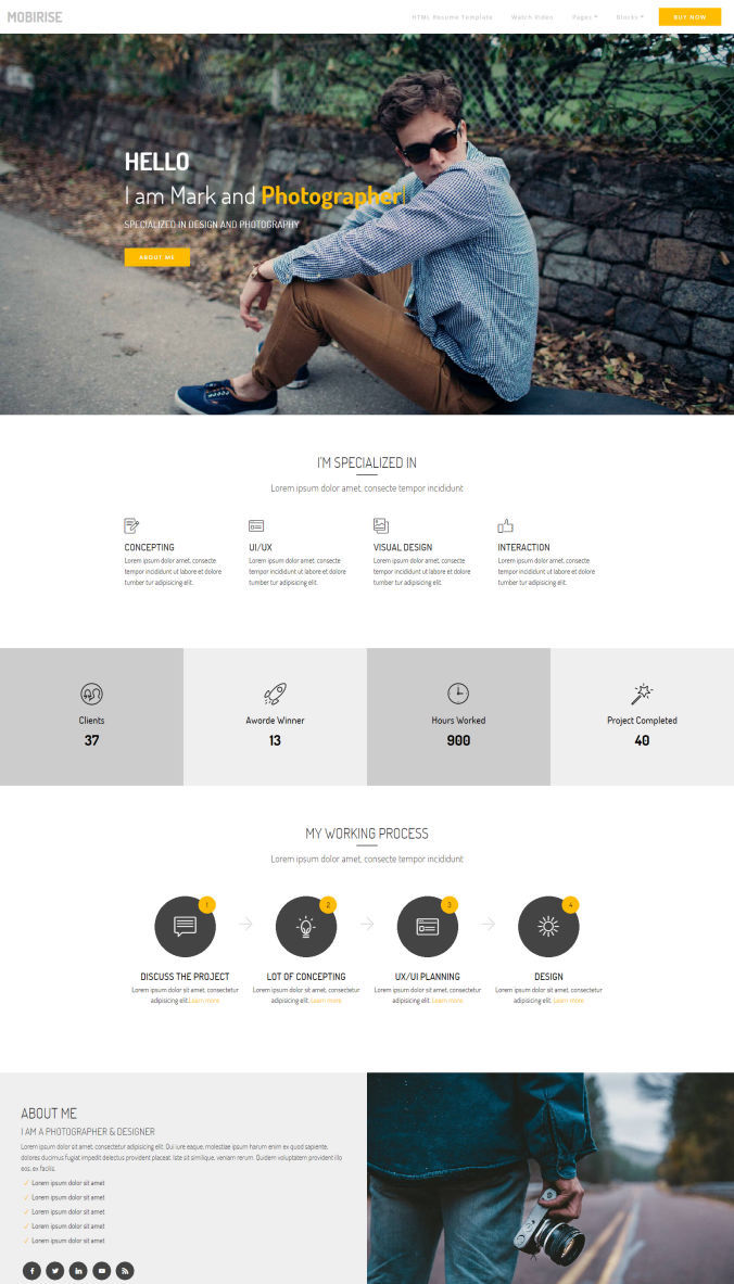 Resume Beautiful Template